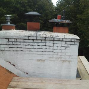 Coated Chimney Repair